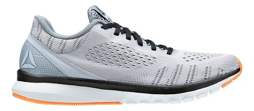 Mens Reebok Print Smooth ULTK Running Shoe - Light Grey/Black 10