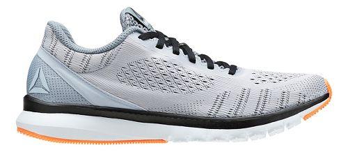 Mens Reebok Print Smooth ULTK Running Shoe - Light Grey/Black 11
