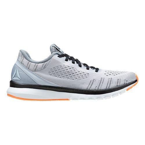 Mens Reebok Print Smooth ULTK Running Shoe - Light Grey/Black 11.5
