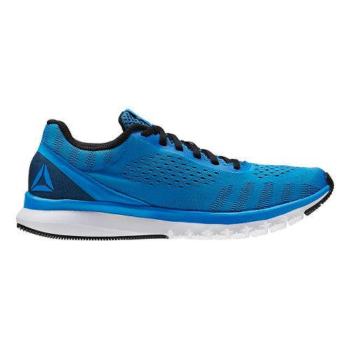 Mens Reebok Print Smooth ULTK Running Shoe - Blue/Black 11