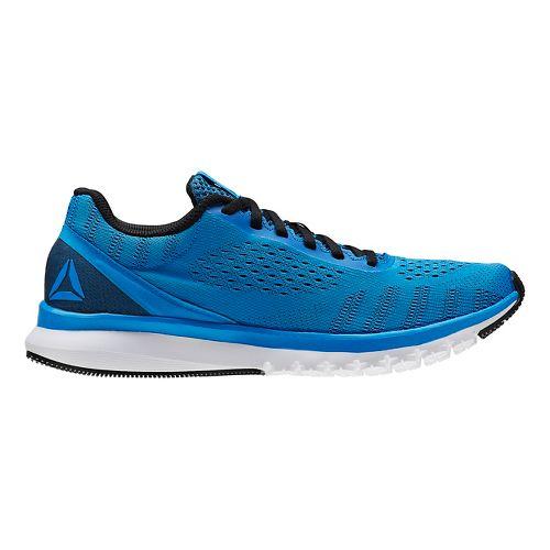 Mens Reebok Print Smooth ULTK Running Shoe - Blue/Black 8.5