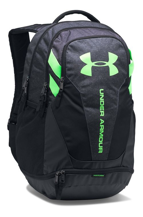 Under Armour Hustle 3.0 Backpack Bags - Stealth Grey/Lime