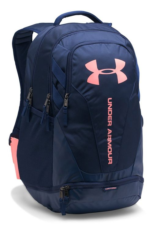 Under Armour Hustle 3.0 Backpack Bags - Midnight Navy/Coral
