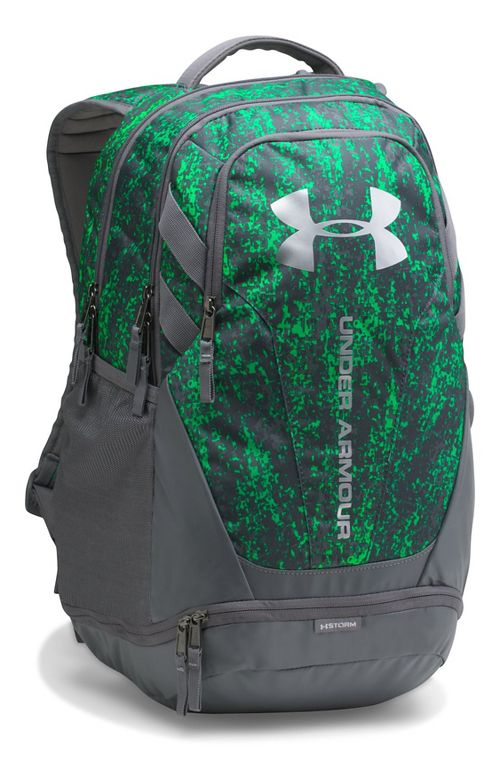 Under Armour Hustle 3.0 Backpack Bags - Lime Twist/Graphite