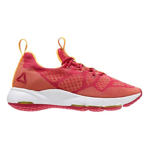 Womens Reebok Cloudride LS DMX Walking Shoe - Red/Orange 7.5