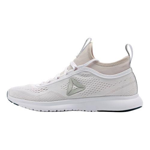 Womens Reebok Plus Runner Tech Running Shoe - White/Lilac Ash 5