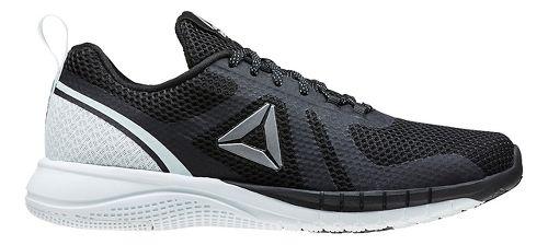 Womens Reebok Print Run 2.0 Running Shoe - Black/Light Blue 8.5