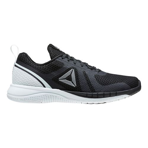 Womens Reebok Print Run 2.0 Running Shoe - Black/Light Blue 6.5