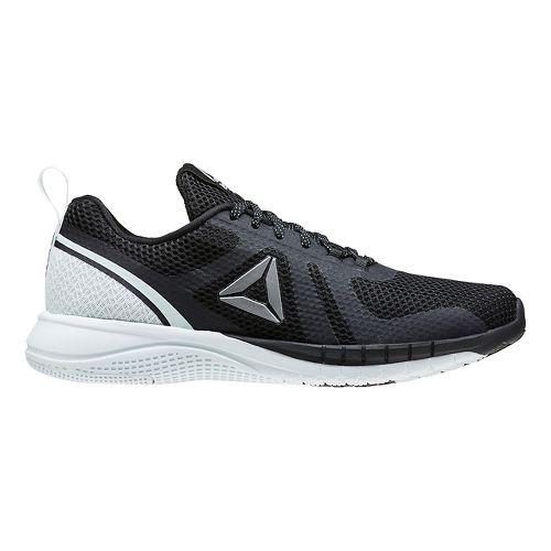 Womens Reebok Print Run 2.0 Running Shoe - Black/Light Blue 7