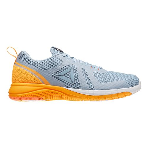 Womens Reebok Print Run 2.0 Running Shoe - Grey/Orange 6.5