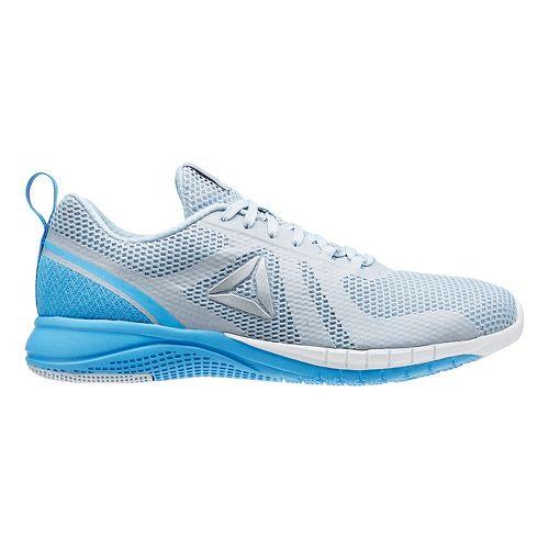 Womens Reebok Print Run 2.0 Running Shoe - Grey/Blue 11