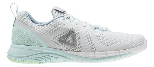 Womens Reebok Print Run 2.0 Running Shoe - Light Blue/Grey 7