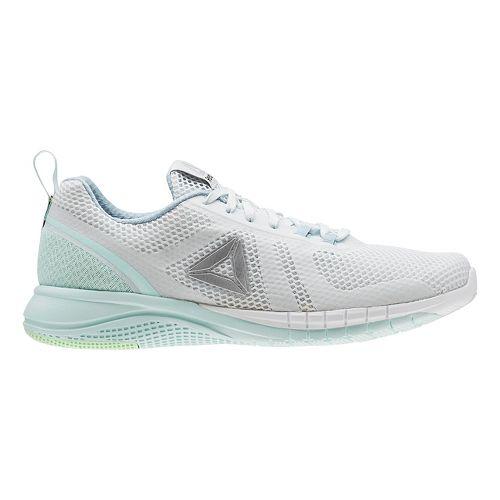 Womens Reebok Print Run 2.0 Running Shoe - Light Blue/Grey 6.5