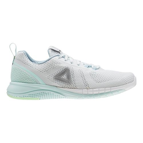 Womens Reebok Print Run 2.0 Running Shoe - Light Blue/Grey 8