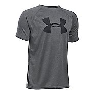 Under Armour Boys Tech Big Logo Short Sleeve Technical Tops