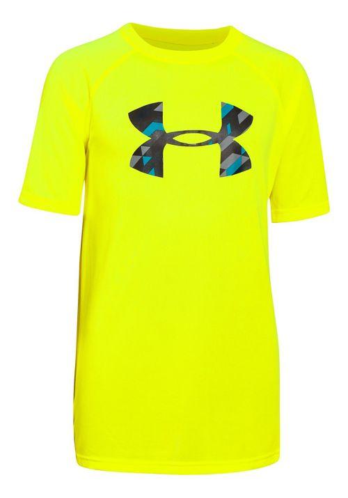Under Armour Boys Tech Big Logo Short Sleeve Technical Tops - Magma Orange YS