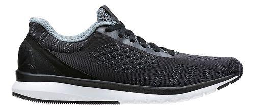 Womens Reebok Print Smooth ULTK Running Shoe - Black/White 8.5