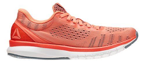 Womens Reebok Print Smooth ULTK Running Shoe - Coral/White 6.5