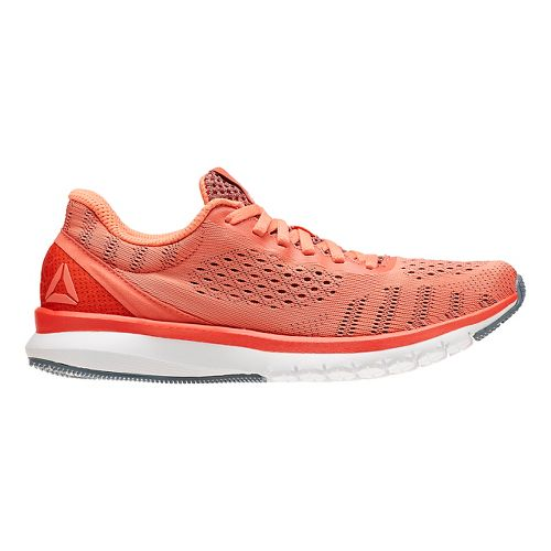 Womens Reebok Print Smooth ULTK Running Shoe - Coral/White 8