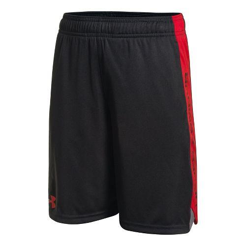 Under Armour Boys Eliminator Shorts - Black/Risk Red YM