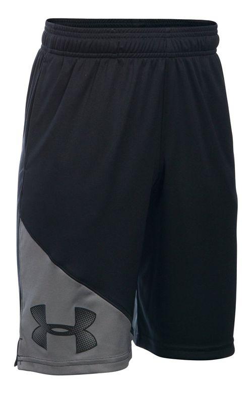Under Armour Boys Tech Prototype Shorts - Black/Graphite YXS
