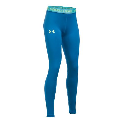Under Armour Girls Armour Heatgear Legging Pants - Mediterranean/Blue YS