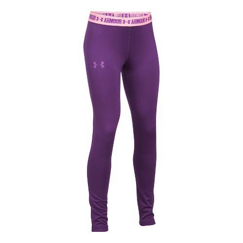 Under Armour Girls Armour Heatgear Legging Pants - Indulge/Pink YL
