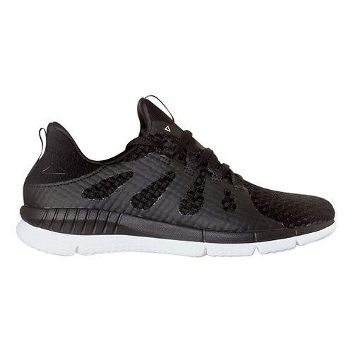 Womens Reebok ZPrint HER MTM WVN Running Shoe - Black/White 8.5
