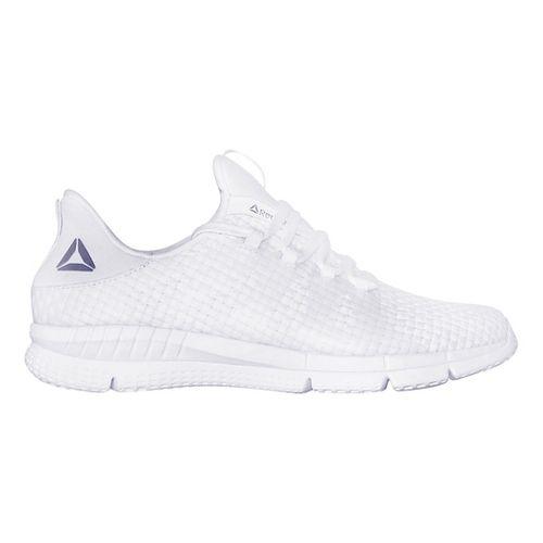 Womens Reebok ZPrint HER MTM WVN Running Shoe - White/White 8