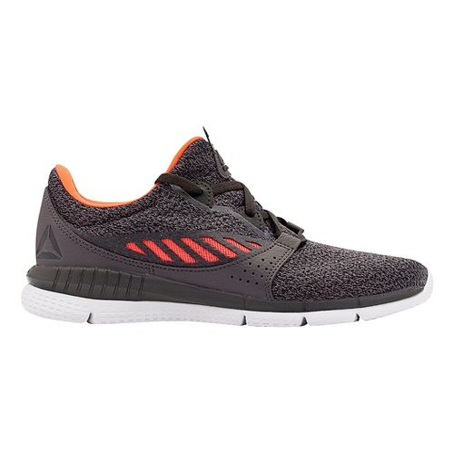 Womens Reebok ZPrint HER Elle MTM Running Shoe - Dark Grey/Orange 8.5