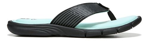 Womens Ryka Refresh Sandals Shoe - Black/Mint 6