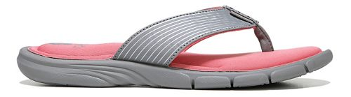 Womens Ryka Refresh Sandals Shoe - Grey/Coral 5