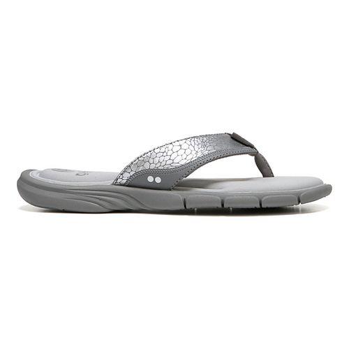 Womens Ryka Refresh Sandals Shoe - Grey/Silver 11