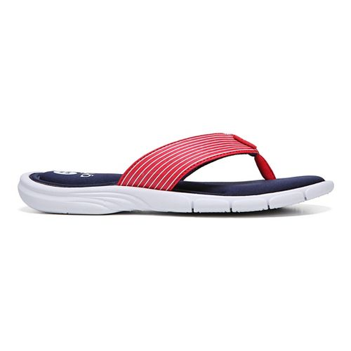 Womens Ryka Refresh Sandals Shoe - Red/Blue 7