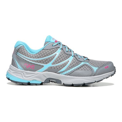 Womens Ryka Revive RZX Trail Running Shoe - Grey/Blue 10.5