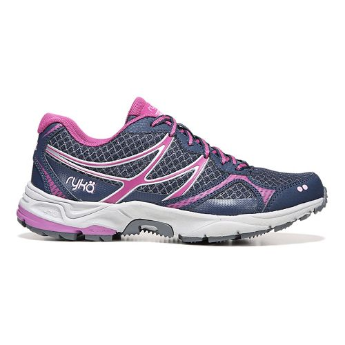 Womens Ryka Revive RZX Trail Running Shoe - Navy/Purple 9.5
