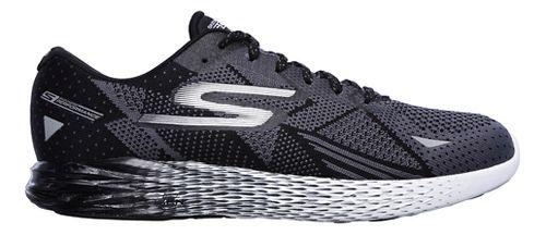 Mens Skechers GO Meb Razor Running Shoe - Black/White 7.5