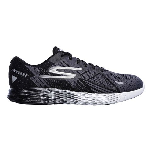 Mens Skechers GO Meb Razor Running Shoe - Black/White 8.5