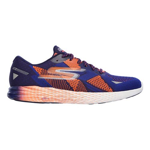 Mens Skechers GO Meb Razor Running Shoe - Blue/Orange 11