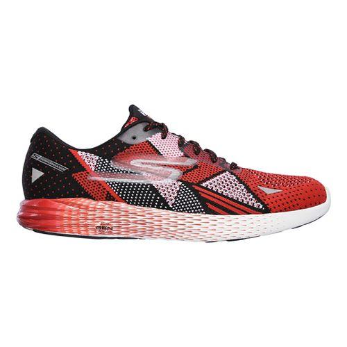 Mens Skechers GO Meb Razor Running Shoe - Black/Red 7