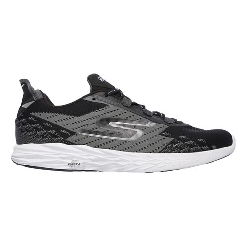 Mens Skechers GO Run 5 Running Shoe - Black/White 7.5