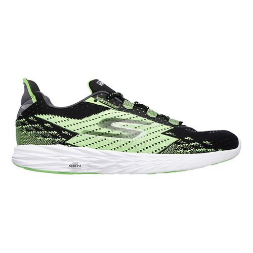 Mens Skechers GO Run 5 Running Shoe - Black/Green 12