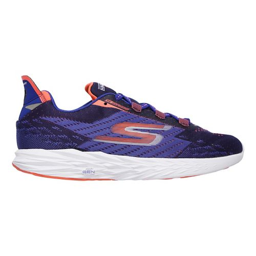 Mens Skechers GO Run 5 Running Shoe - Blue/Orange 9.5