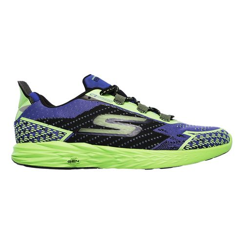 Mens Skechers GO Run 5 Nite Owl Running Shoe - Blue/Green 10.5