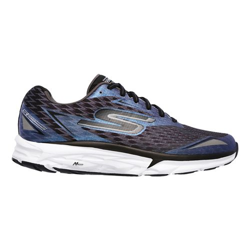 Mens Skechers GO Run Forza 2 Running Shoe - Black/White 10.5