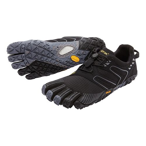 Mens Vibram FiveFingers V-Trail Running Shoe - Black/Grey 46