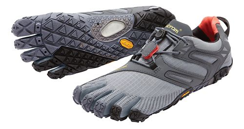 Mens Vibram FiveFingers V-Trail Running Shoe - Grey/Black/Orange 42