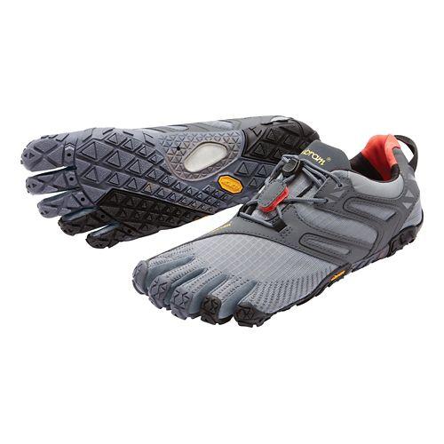Mens Vibram FiveFingers V-Trail Running Shoe - Grey/Black/Orange 40