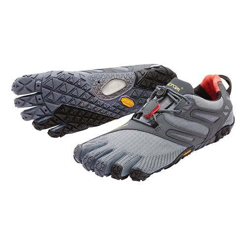 Mens Vibram FiveFingers V-Trail Running Shoe - Grey/Black/Orange 44