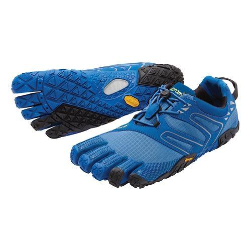 Mens Vibram FiveFingers V-Trail Trail Running Shoe - Blue/Black 42